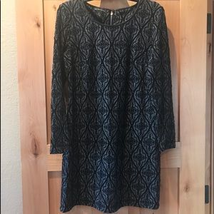 Black Gray Dress INC PL L Holiday Women's EUC